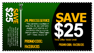los angeles process server coupon - jpl process service (866) 754-0520